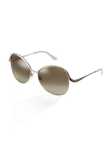 SALVATORE FERRAGAMOOversized Round Glam Sunglasses