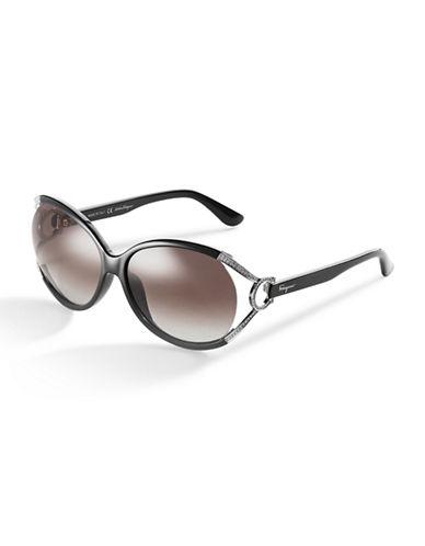 SALVATORE FERRAGAMOOversized Rhinestone Sunglasses