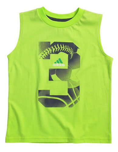 ADIDAS Boys 2-7 Sleeveless Graphic T-Shirt