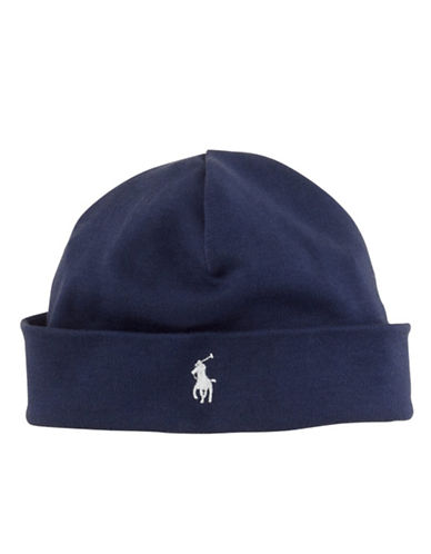RALPH LAUREN CHILDRENSWEAR Baby Boys Newborn Boys 0-9 Months Solid Cap