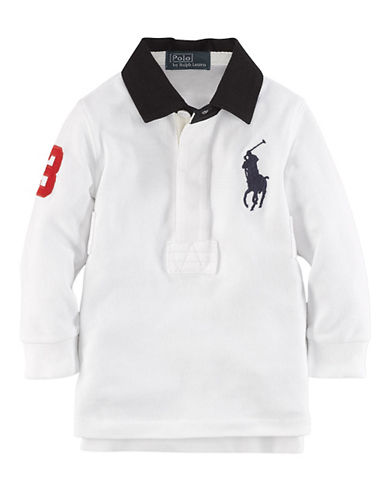 Baby Boys 12-24 Months Long-Sleeve Cotton Rugby Shirt