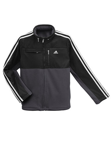 ADIDAS Boys 8-20 Polar Fleece Hooded Jacket