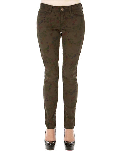 KENSIE JEANSSuper Stretch Soft Touch Floral Sateen Ankle Jeans