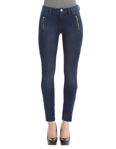 Kensie Jeans Stretch Moto Zip Jeans