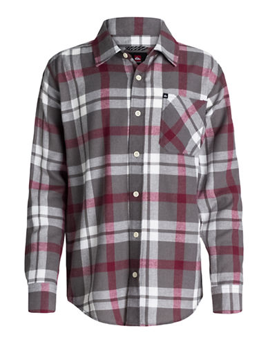QUIKSILVER Boys 8-20 Viking Plaid Shirt
