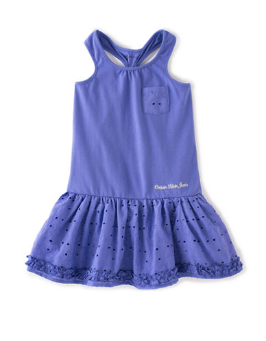Kids Headquarters Girls 2-6x Cotton-Blend Ruffle Dress