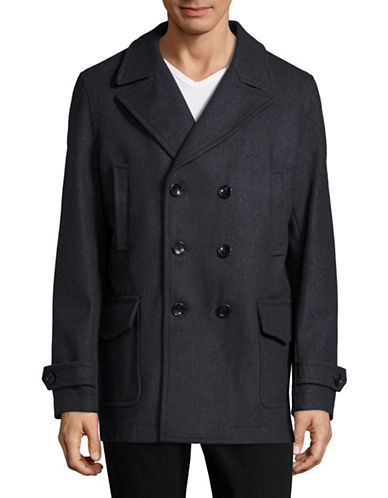 michael kors male doublebreasted peacoat
