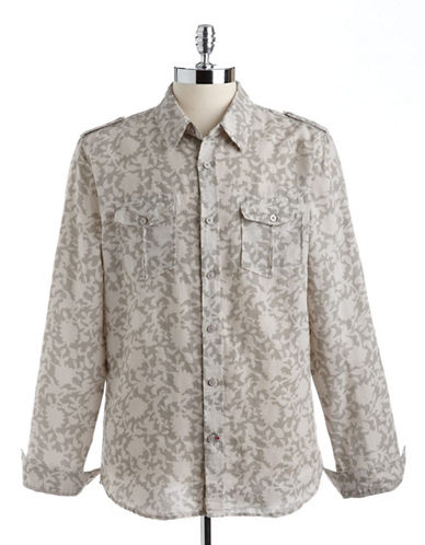 GUESS Dillon Walker Floral Print Slim Fit Shirt