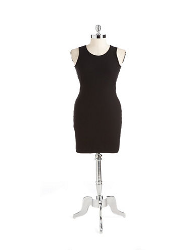 Shop Guess online and buy Guess Cotton Knotted Back Stretch Dress dress online