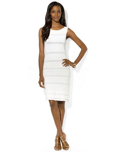 LAUREN RALPH LAURENPointelle Knit Boatneck Dress