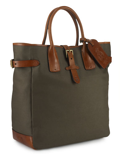 POLO RALPH LAURENCanvas-Leather Tote