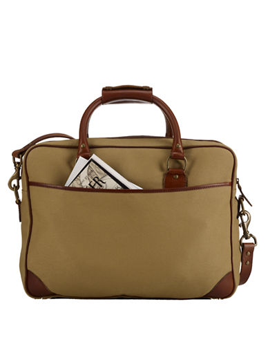 POLO RALPH LAURENCanvas and Leather Commuter Bag