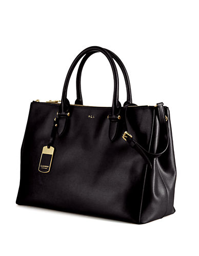LAUREN RALPH LAUREN Newbury Leather Double Zip Satchel