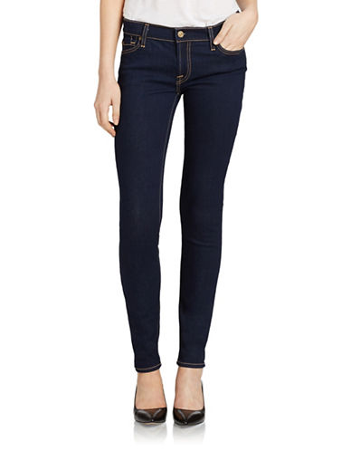 7 FOR ALL MANKIND Contrast-Stitched Skinny Jeans