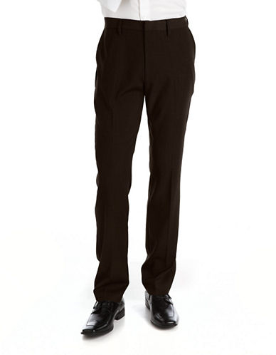 KENNETH COLE NEW YORK Flat-Front Dress Pants