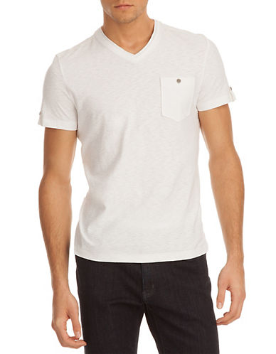 KENNETH COLE NEW YORKV-Neck Pocket T-Shirt