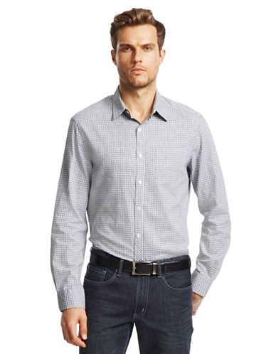 KENNETH COLE NEW YORKMicro Check Sport Shirt