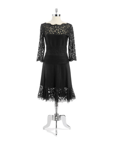 TADASHI SHOJIMixed Media A Line Dress