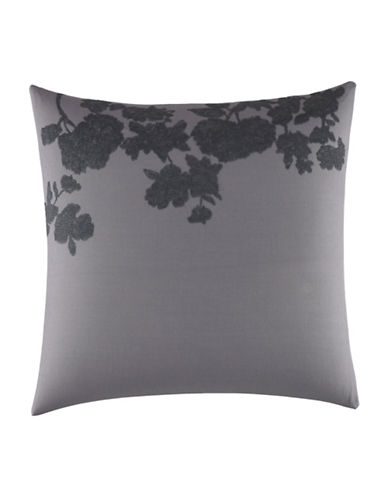 vera wang female scribble print embroidered pillow