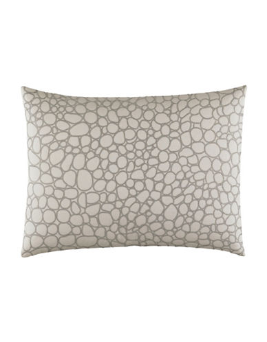 vera wang female lace embroidered rectangular pillow