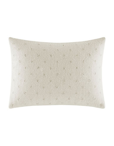 vera wang female passimenterie embroidered wool blend decorative pillow