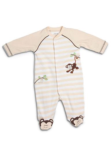 LITTLE MENewborn Boys 0-9 Months Monkey Footed Coveralls - Smart Value