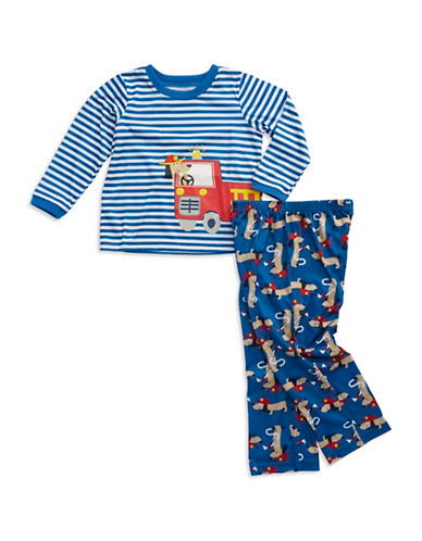 Toddler Boys Firedog Long Sleeve Pajama Set