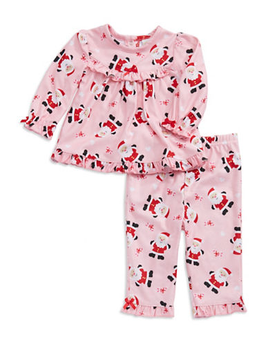 Little Me Santa Claus Holiday Pajama Set for Infant Girls