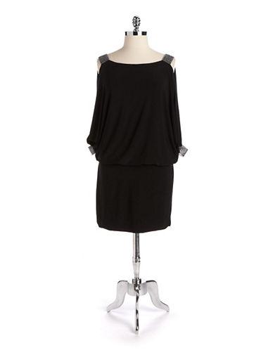 Shop Xscape online and buy Xscape Plus Cold Shoulder Blouson Dress dress online