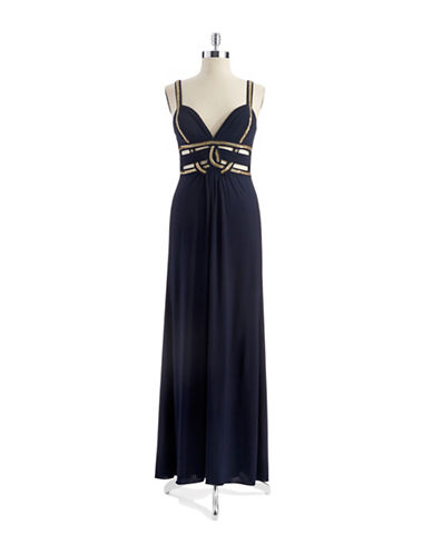 Greecian Gown with Beaded Accents $149.25 AT vintagedancer.com
