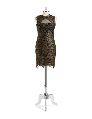Shop Betsy & Adam online and buy Betsy & Adam Lace Illusion Cut Out Dress dress online
