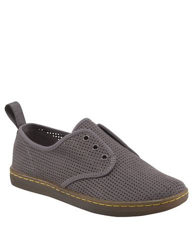 DR. MARTENS Ade Perforated Canvas Slip-On Sneakers
