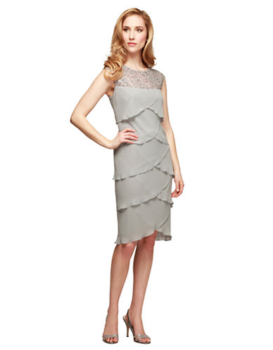 ALEX EVENINGSSequined Artichoke Pleat Dress