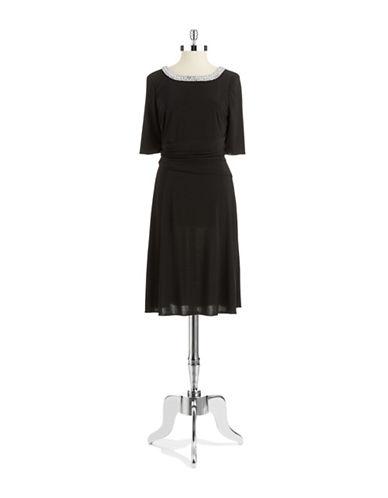 Shop Alex Evenings online and buy Alex Evenings Bead Accented Sheath Dress dress online