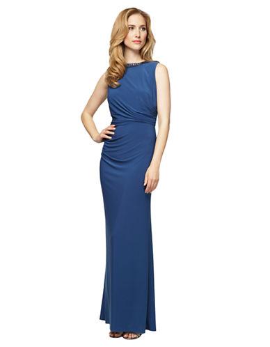 ALEX EVENINGSMatte Jersey Ruched Gown
