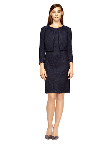 Shop Kay Unger online and buy Kay Unger Tweed Cropped Jacket dress online