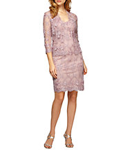 Lace V-Neck Sheath Dress | Lord and Taylor