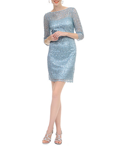 Shop Kay Unger online and buy Kay Unger Sequined Lace Dress dress online
