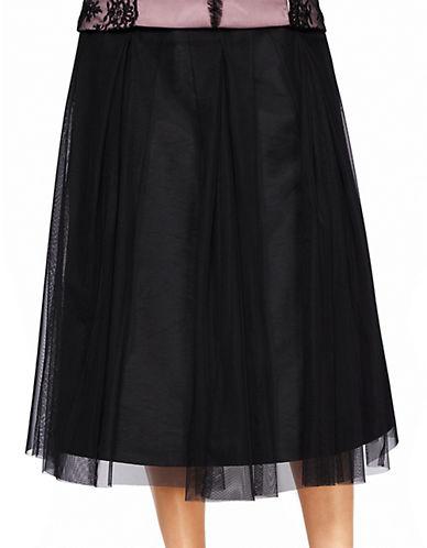 ALEX EVENINGSTulle Pleated A-Line Skirt