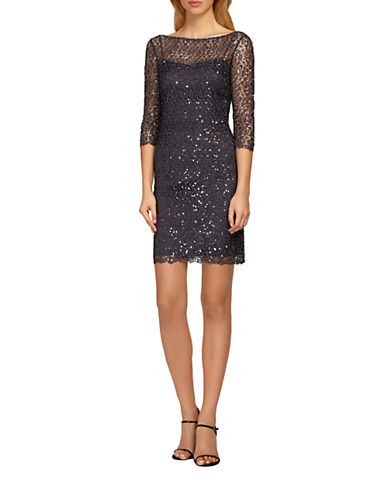 KAY UNGERSequined Lace Dress