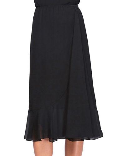 alex evenings female 188971 ruffled midi skirt