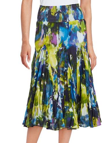 Plus Paint-Splattered Tiered Skirt plus size,  plus size fashion plus size appare