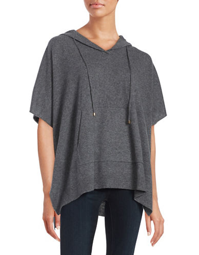 ply cashmere female 45906 hooded cashmere poncho