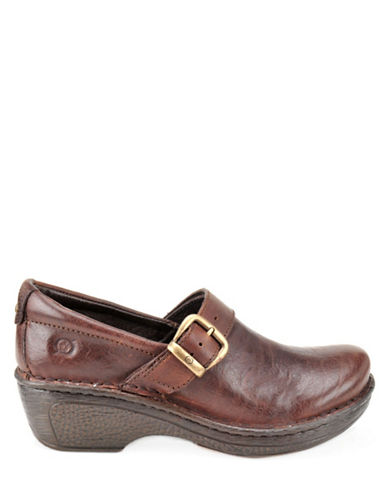 BORNGlendell Leather Wedges with Buckle