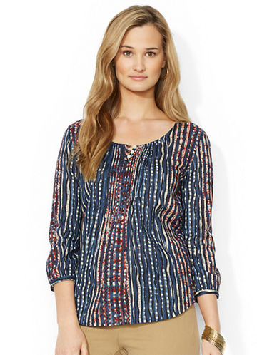 LAUREN RALPH LAURENPetite Striped Cotton Shirt