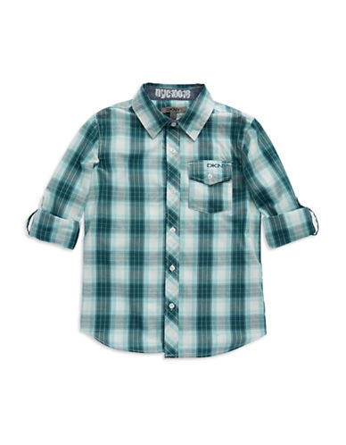 DKNYBoys 8-20 Plaid Sport Shirt