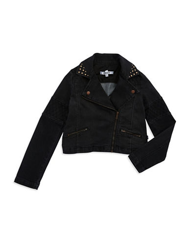 DKNYGirls 7-16 Stud Accented Moto Jacket