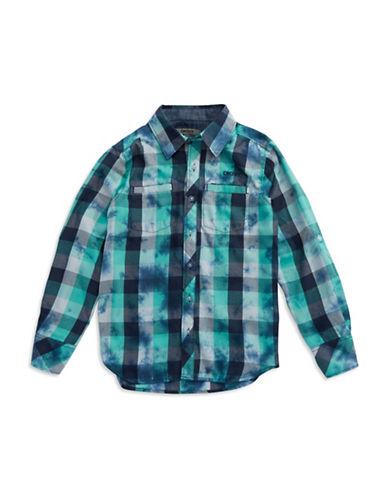 DKNYBoys 8-20 Plaid Splatter Sport Shirt