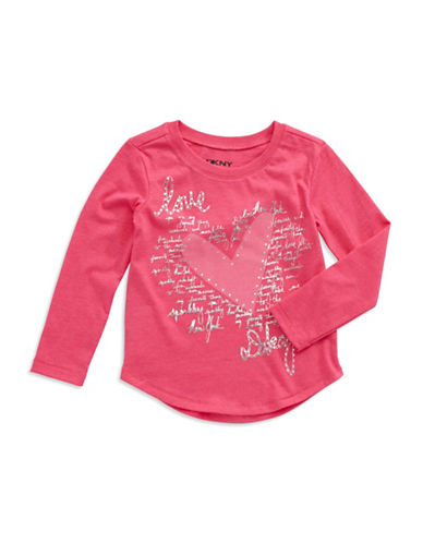 DKNY Girls 2-6x Long Sleeve Graphic Tee