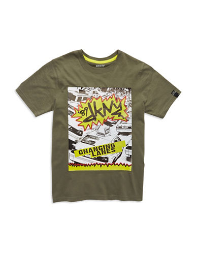 DKNY Boys 8-20 Changing Lanes Tee